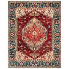 kashan blue red 8 ft x 10 ft area rug