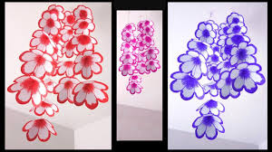 Homemade Paper Flower Decorations Wall Hanging Handmade Paper Flower Decoration 2 Diy Crafts