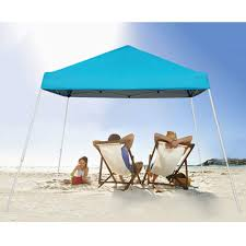 Pop Up Canopy With Lights Blissun 10 X 10 Pop Up Canopy Tent Instant Slant Leg Canopy Tent With Carrying Bag Light Blue