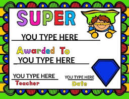 Certificates To Make Superhero Awards Editable You Make Your Own Certificates Tpt