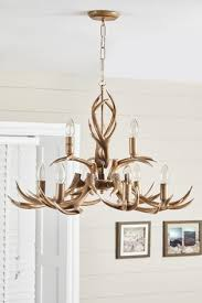 antler 9 light chandelier