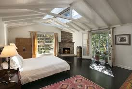 cottage bedroom design. 4 Tags Cottage Guest Bedroom With Exposed Beam, Stone Fireplace, Hardwood Floors, Meva Rugs Kilim Design