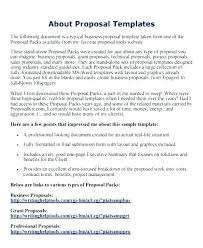 Business Letter Template Via Email Proposal Format Free