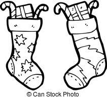 christmas stocking clipart black and white. Plain Stocking For Christmas Stocking Clipart Black And White A