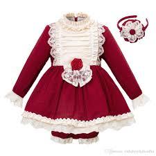 Childrens Clothing Designer Pettigirl New Arrival Red Autumn Girl Clothing Set Flare Sleeve Kids Designer Clothes Boutique Little Girls Clothing Sets G Dmcs103 B232