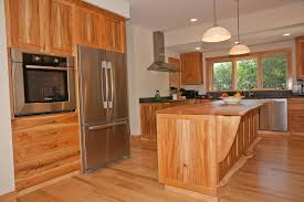 custom made cherry american lacewood and maple kitchen cabinets