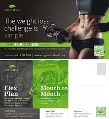 postcard design by theziners for eco gym design 5526992