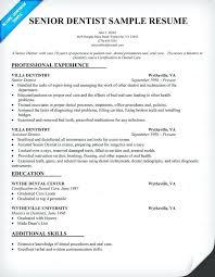 Dental Resume Examples Senior Dentist Resume Sample Dentist Health ...