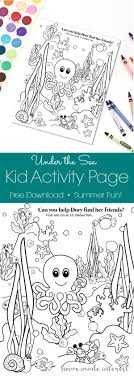 Under The Sea Kid Activity Page