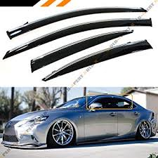 JDM VIP Smoke Tinted Chrome Trim Window Visor ... - Amazon.com