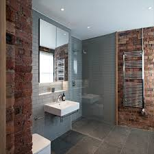 walk in shower lighting. Chic Contemporary Bathroom Walk In Shower Is Open With Wet Rooms, Metro Tile Gray Subway Wall. Chris Dyson Architects Collection Lighting I