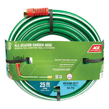 water hose 5 8 x 25 ft medium duty garden hose green and