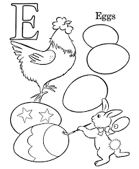 Easter Egg Coloring Pages : Egg Easter Alphabet Coloring Pages ...