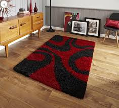 red and black rugs design