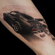 Car And Money Tattoo