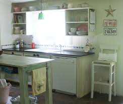 Shabby Chic Kitchen Small Kitchen Makeover In A Mobile Home