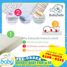BabySafe 100 LATEX Mattress for Playpen  Cot