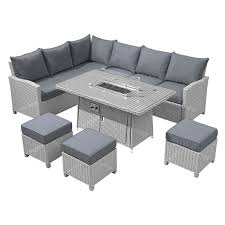 ciara outdoor rattan corner dining set