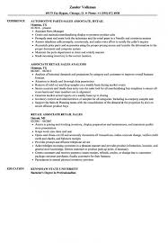 Resume Sample For Retail Sales Associate | Nfcnbarroom.com