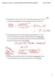 Scientific Notation Word Problems Matching Worksheet Answers ...