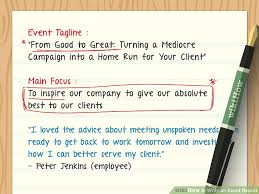 Event Synopsis Template How To Write An Event Report With Examples Wikihow