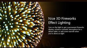fireworks 3d effect e27 led bulb light colorful
