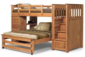 twin over full bunk bed with stairs. Here\u0027s A Pine L-shaped Bunk With Twin Over Full. Instead Of Ladder Full Bed Stairs E