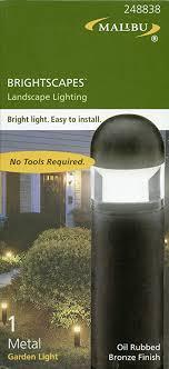 malibu brightscapes landscape lighting oil rubbed bronze finish garden light model cl635obl