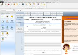 Free Proposal Templates With Construction Bid Template Free