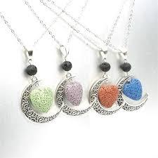 silver lava stone aromatherapy cage pendant essential oil aroma volcanic diffuser necklace