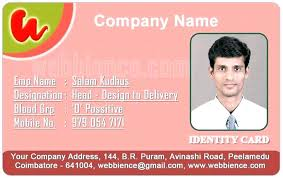 Identification Template Sample Of Id Card Template Employee Cards Identification Layout
