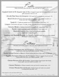 Fancy Restaurant Menu Sample Menu Picture Of San Vito Italian Restaurant