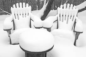 patio furniture for snow