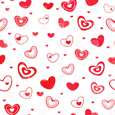 Seamless wrapping paper covered with cartoon simple hearts Royalty Free  Vector Clip Art