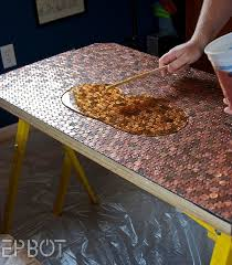 view in gallery crafting your own diy penny table