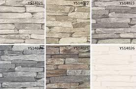 Small Picture 53cm Nature Sense White Vinyl 3d Wallpaper Brick Stone Design For