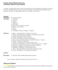 Meeting Minutes Format Example Nonprofit Board Meeting Agenda Template Minutes Format For