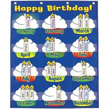 Happy Birthday Pocket Chart Birthday Graph Birthday