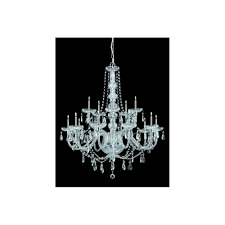 imperia 15 light pendant ceiling light with clear crystal detail