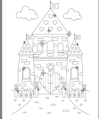 Today we can remember the adventures going on in disney princess belle coloring pages. Princess Castle Colouring Page Castle Coloring Page Coloring Pages Coloring For Kids