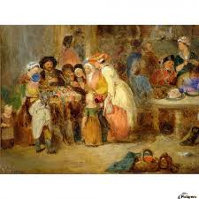 antique oil painting print