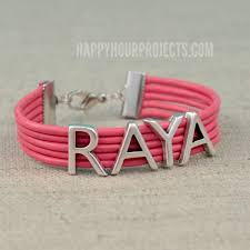 easy diy leather name bracelet at happyhourprojects com