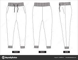 Shorts Design Template Design Vector Template Pants Collection Men Color Black