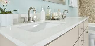 N Dual Sink Quartz Vanity Top