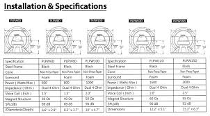 amazon com 10 car audio speaker subwoofer 1000 watt high power installation and specifications diagram