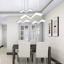 Modern Led Chandelier For Dining Room Rectangle Kitchen Island