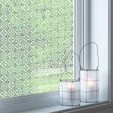 patterned frosted window