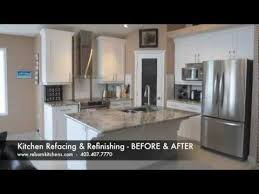 kitchen refacing cabinet painting youtube