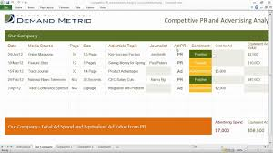 Competitive Pr And Ad Analysis Template - Youtube