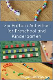 Pattern Activities For Preschoolers New Pattern Activities For Preschoolers And Kindergartners Frugal Fun